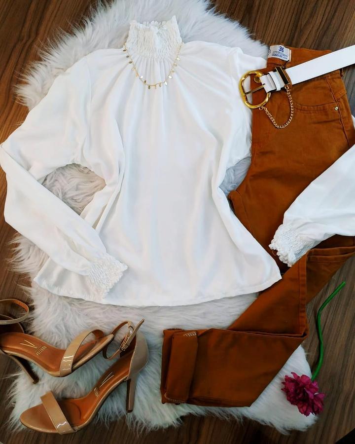 Camisa Gola Sa... - lojas mayara lira shop
