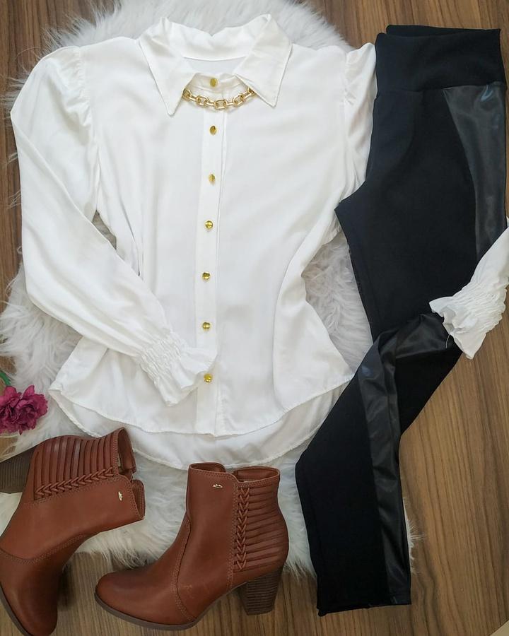 Camisa Com Det... - lojas mayara lira shop