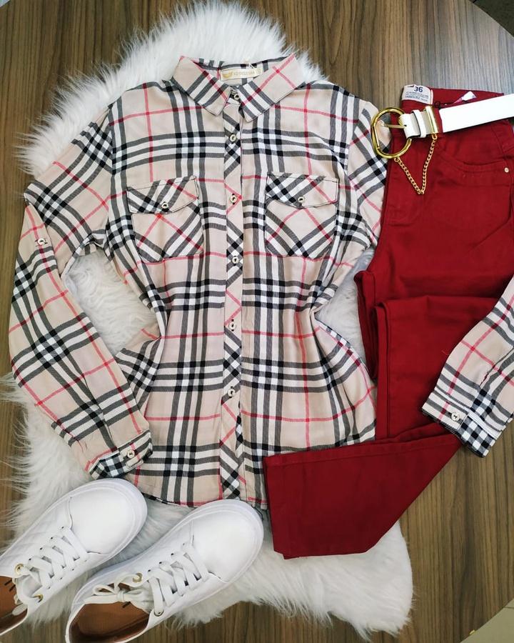 Camisa Xadrez ... - lojas mayara lira shop