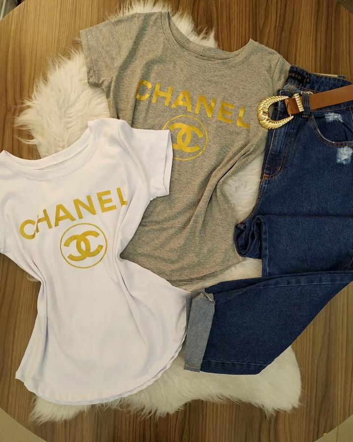 T-shirt Chanel... - lojas mayara lira shop