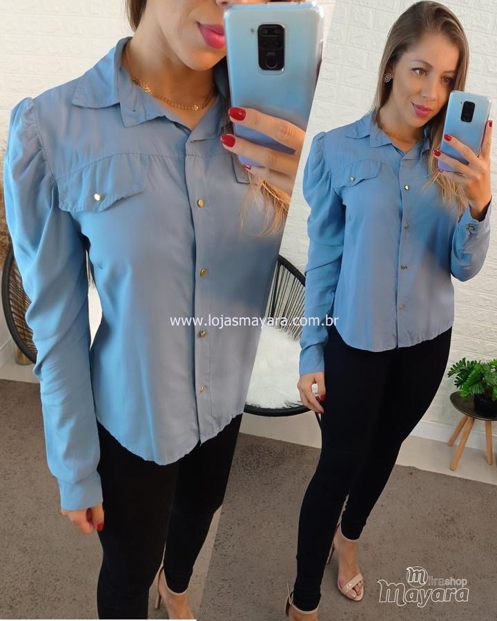 Camisa Manga Princesa Azul