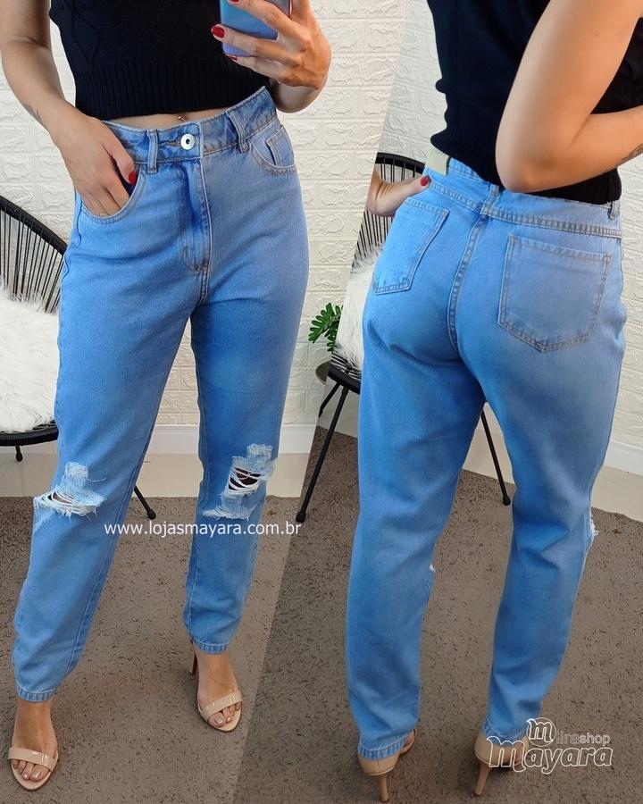 Calça Jeans Mo... - lojas mayara lira shop