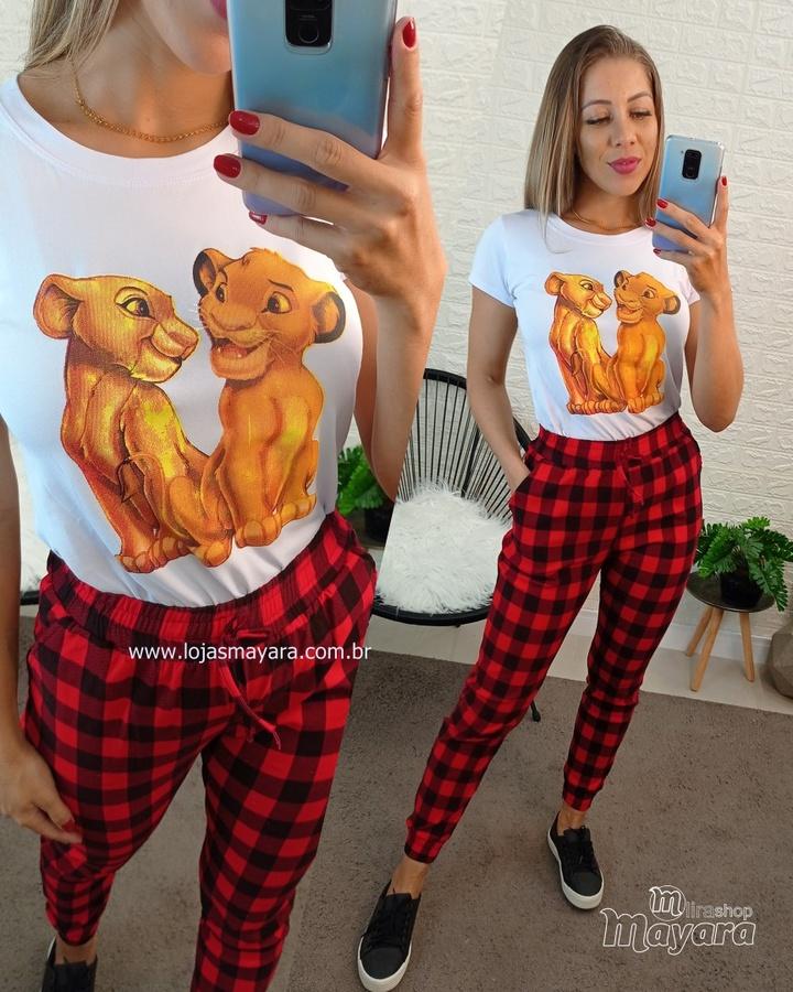 T-shirt Rei Leão Branca