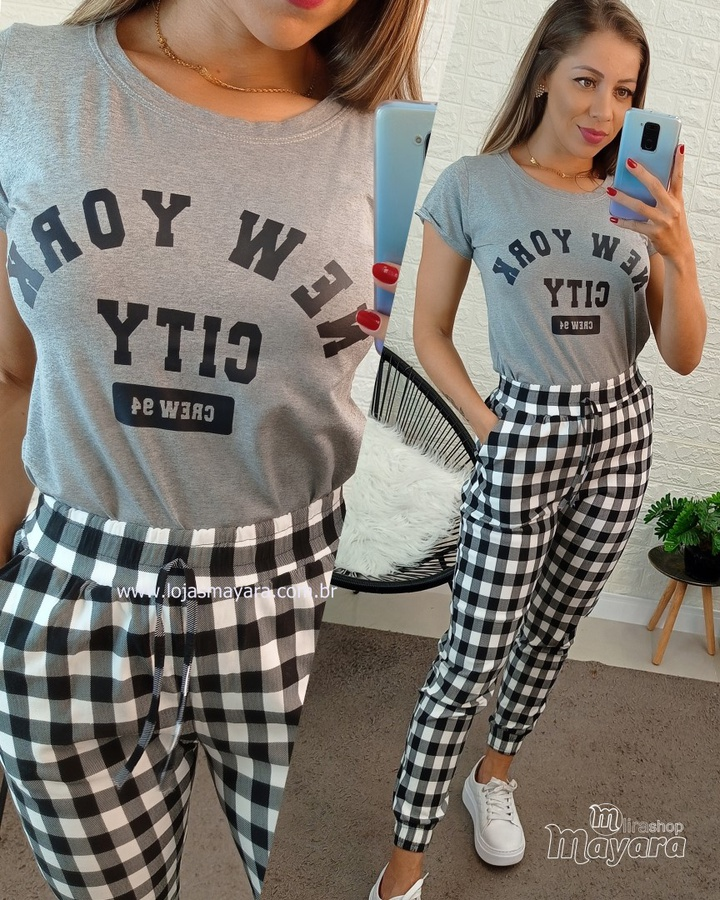 T-shirt New York City Cinza