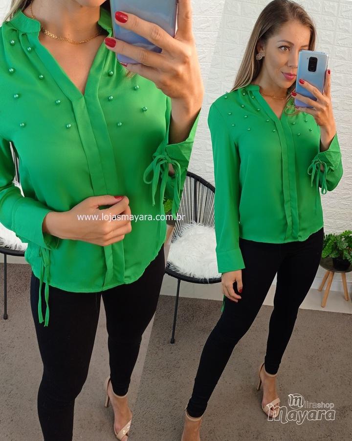Camisa Perolas Verde