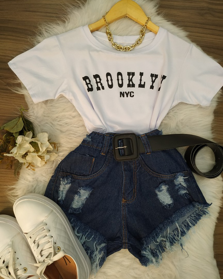 Cropped Brooklyn Nyc Branco