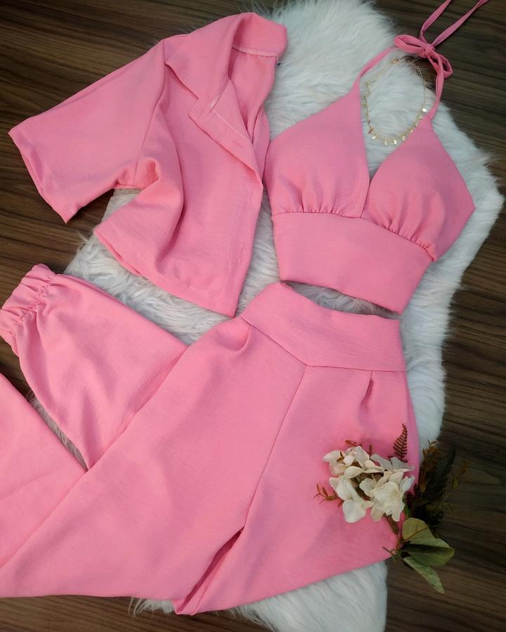 Conjunto Duna 3 peças Rosa
