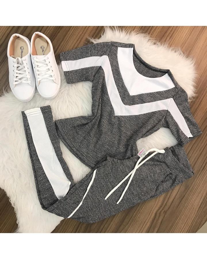Conjunto 2 Cores - Cinza e Branco
