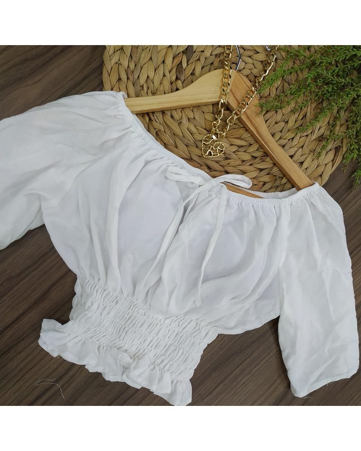 Cropped Ciganinha Branco
