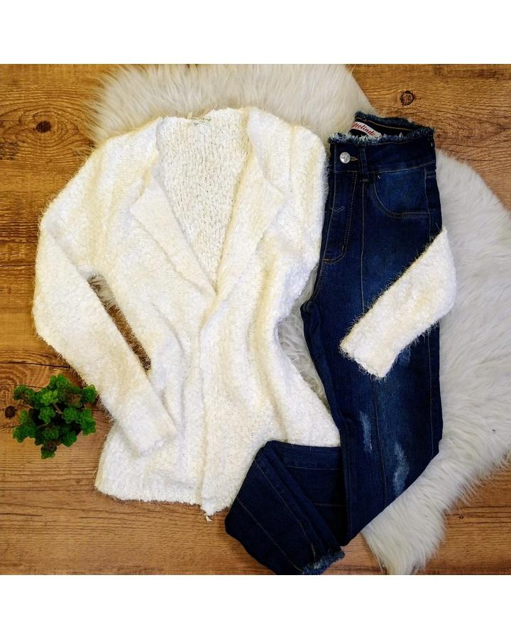 Kimono Curto Pelinho - Branco