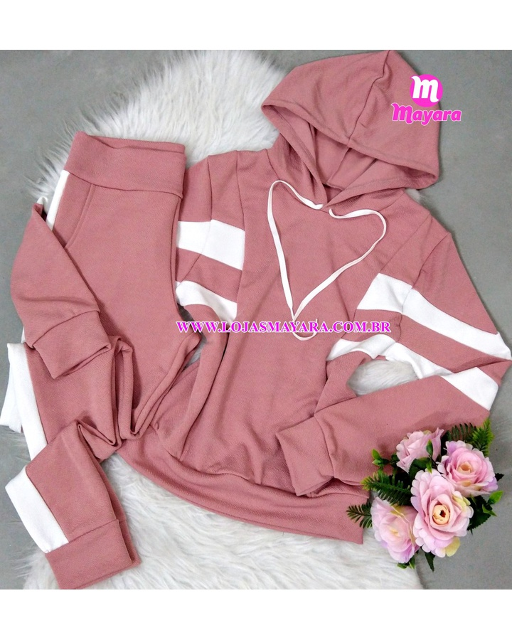 Conjunto Duas Cores - Rosa e Branco