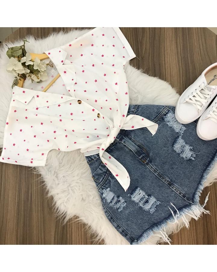 Camisa Estrela Rosa