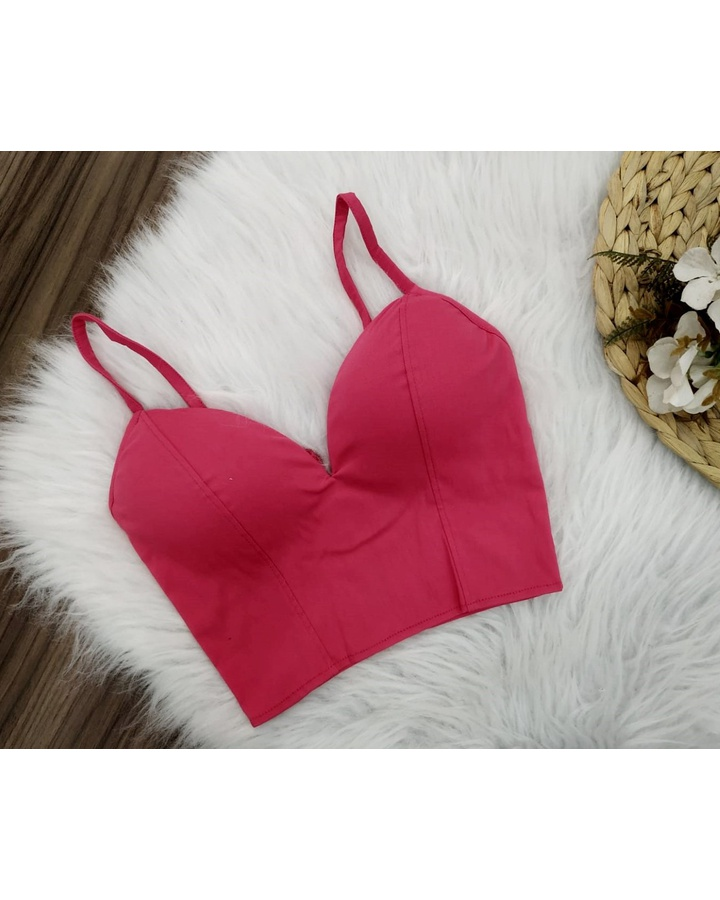 Cropped Bengaline Decote Pink