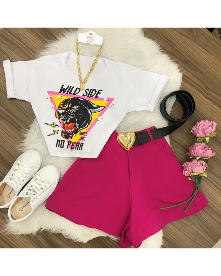 Shorts Gode Linho Pink