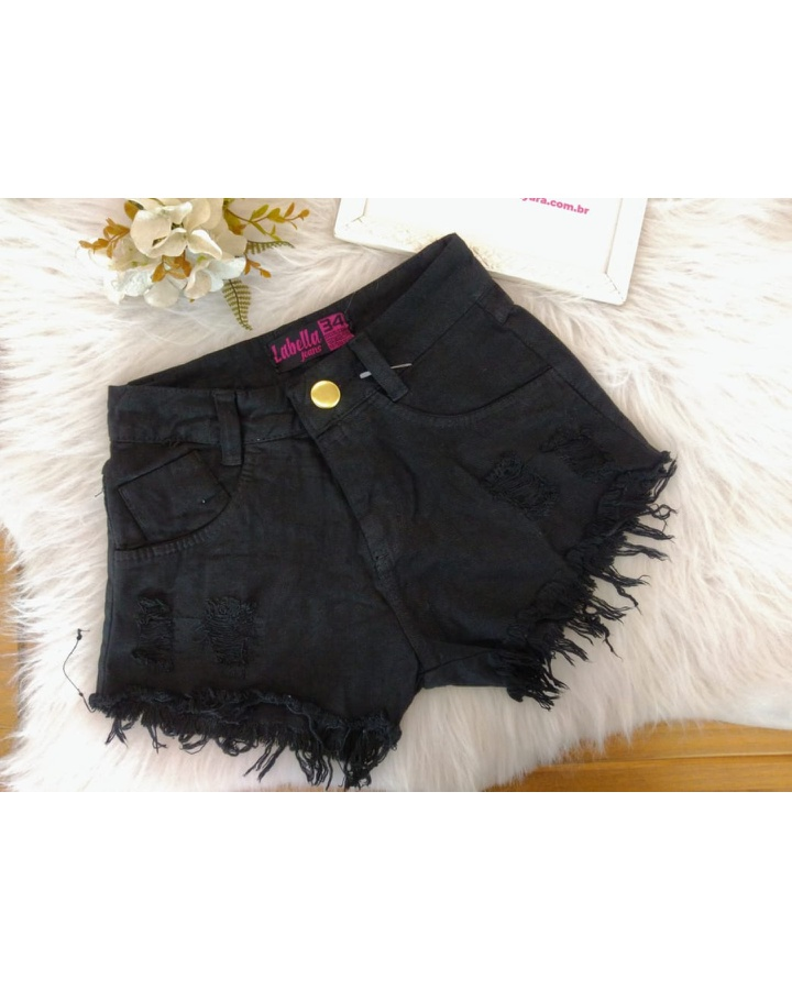 Shorts Jeans Lirus Preto