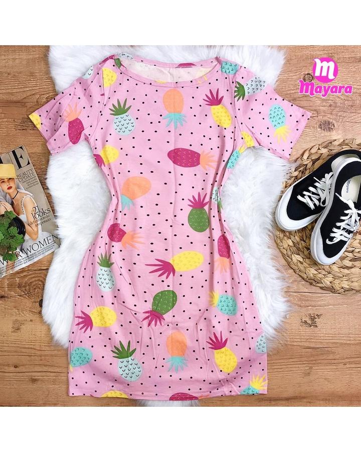 Vestido Abacaxi Rosa
