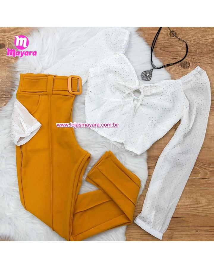 Calça Amarela ... - lojas mayara lira shop