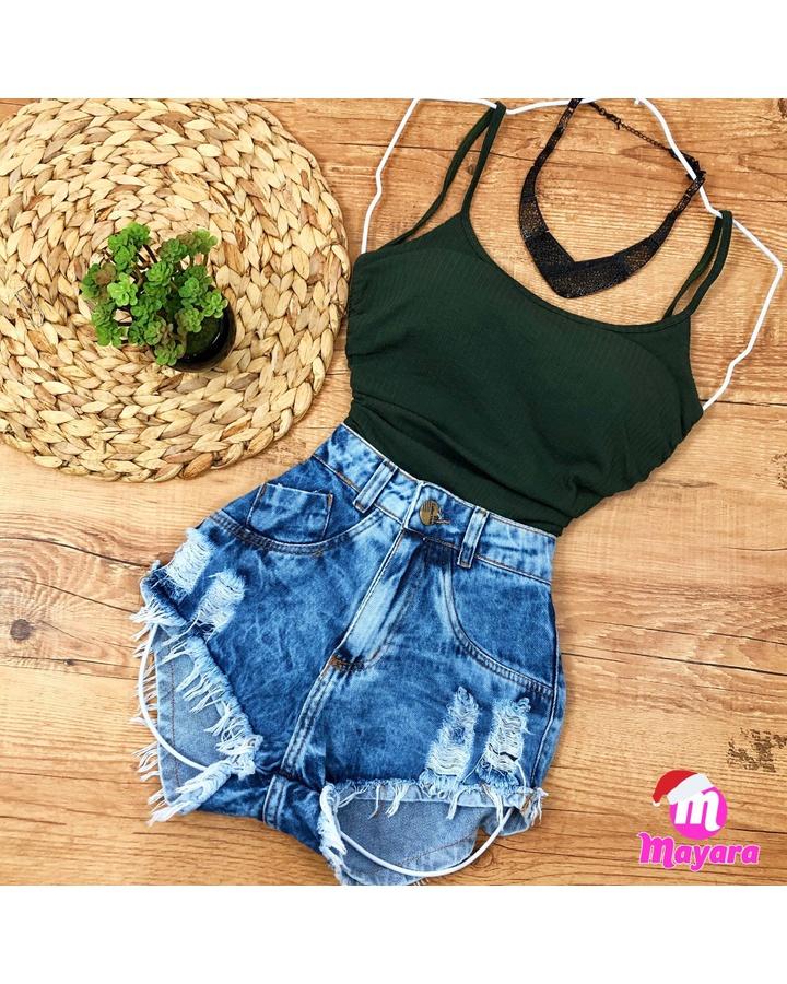 Body Alcinha Verde