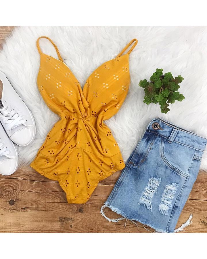 Body Lessie Amarelo