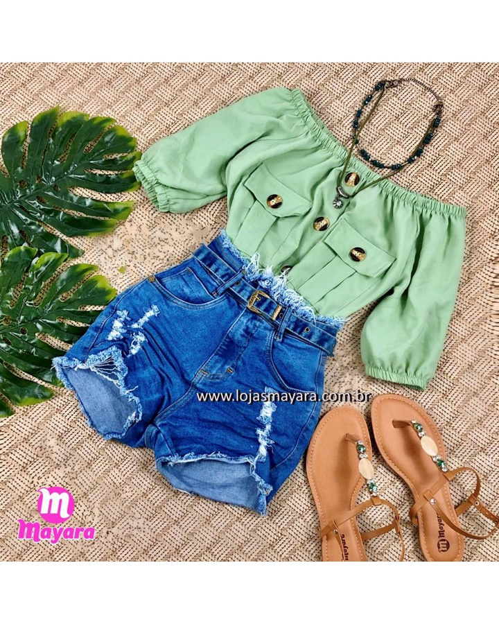 Short Jeans Pl... - lojas mayara lira shop