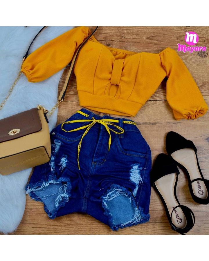 Shorts Jeans M... - lojas mayara lira shop