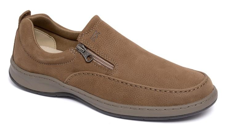 Sapato Comfort Classic Zip Castor