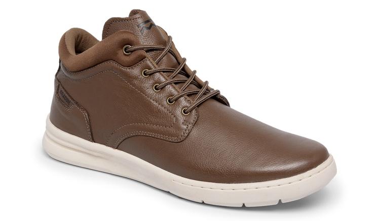 Sapato Comfort Catflex Tabaco