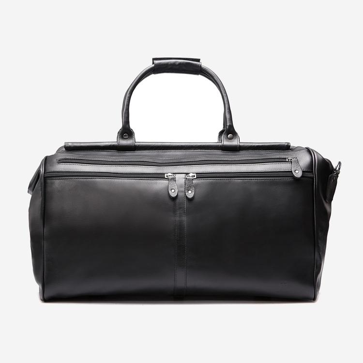 Bolsa Preta em couro para viagem - Brent