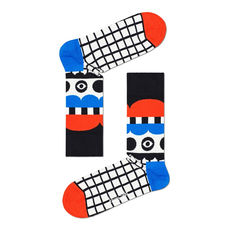 Meia Happy Socks - ABSTRACT TENT SOCK