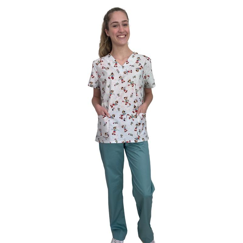 Pijama Cirúrgico Feminino - Pinóquio