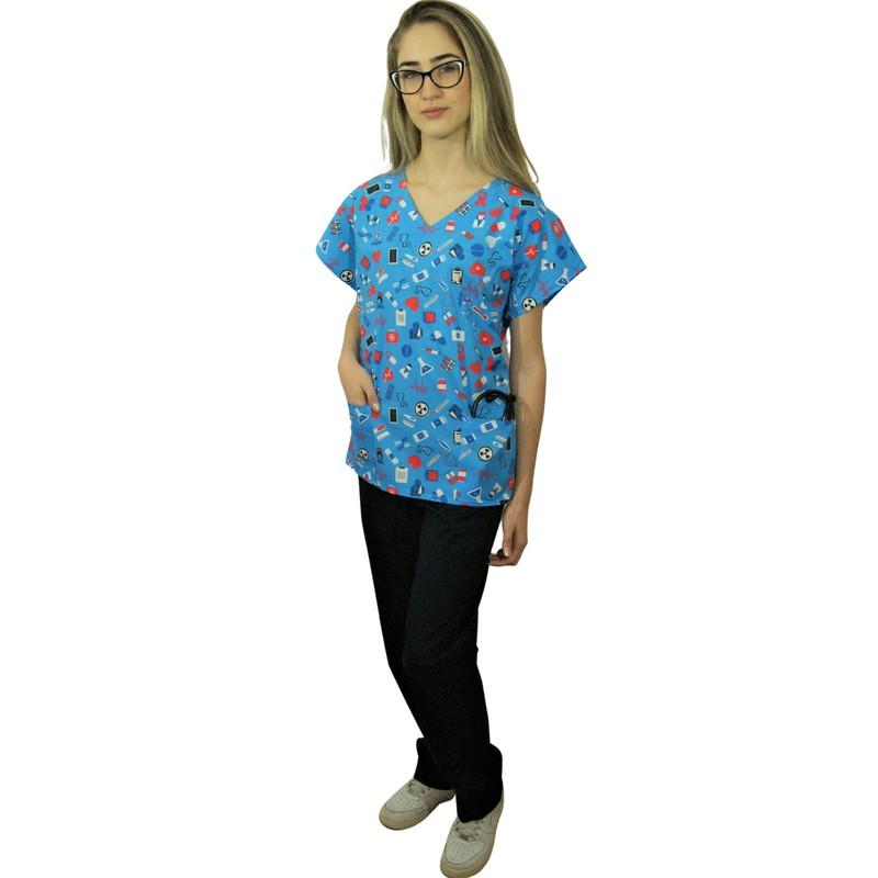 Pijama Cirúrgico Feminino - Medical Nursing 06