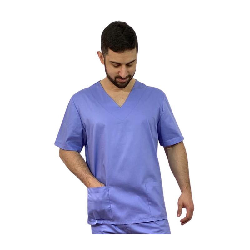 Scrub Masculino - Azul Italiano