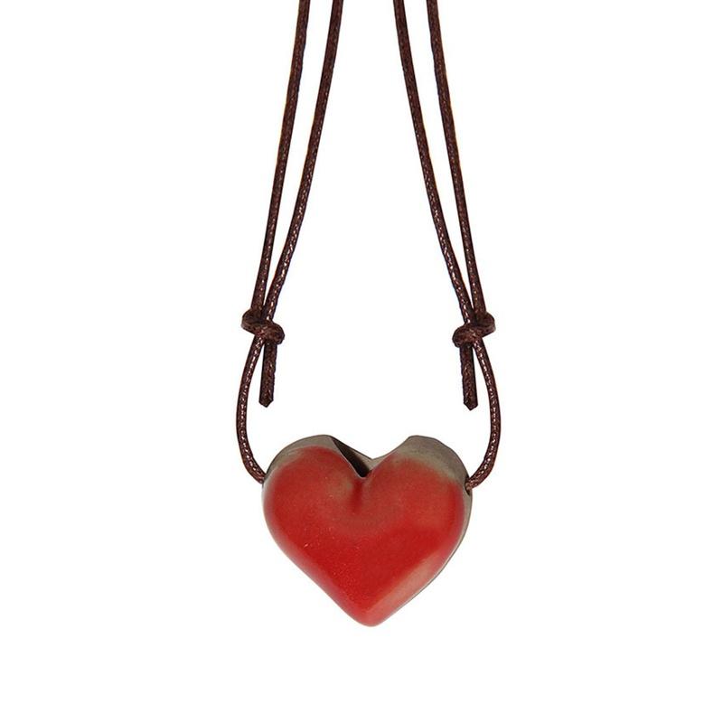 Colar Aromatizador Pessoal - Cerâmica - Coração