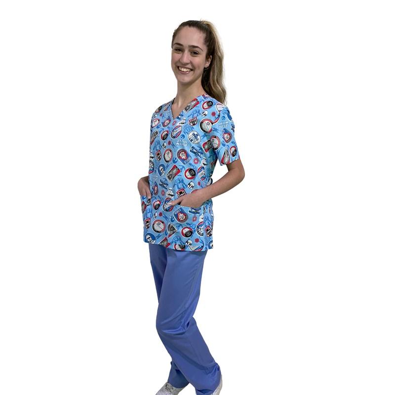 Pijama Cirúrgico Feminino - Star Wars