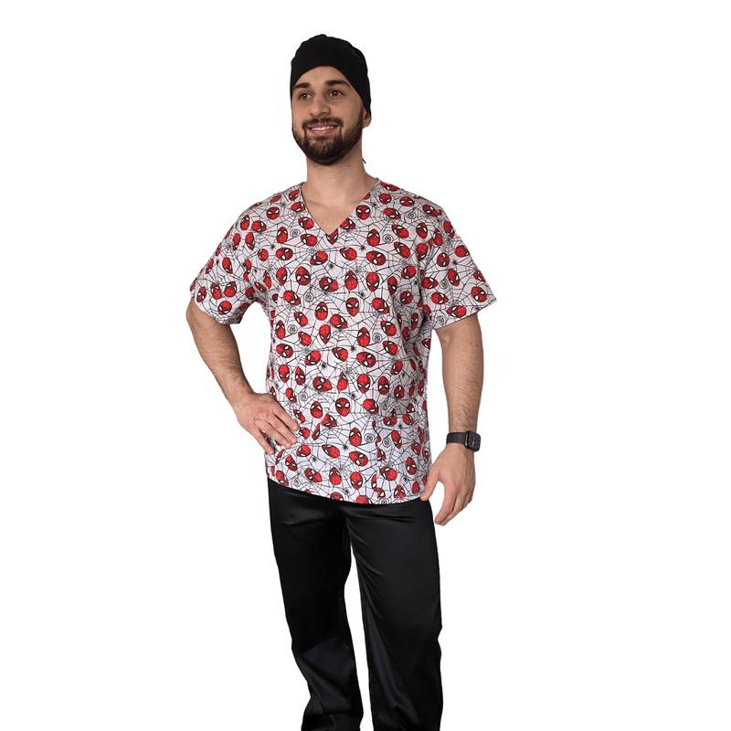 Pijama Cirúrgico Masculino - Homem Aranha