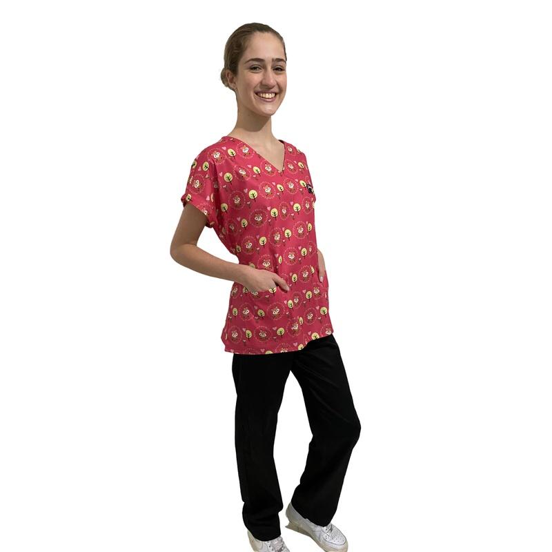 Pijama Cirúrgico Feminino - Raposas 02