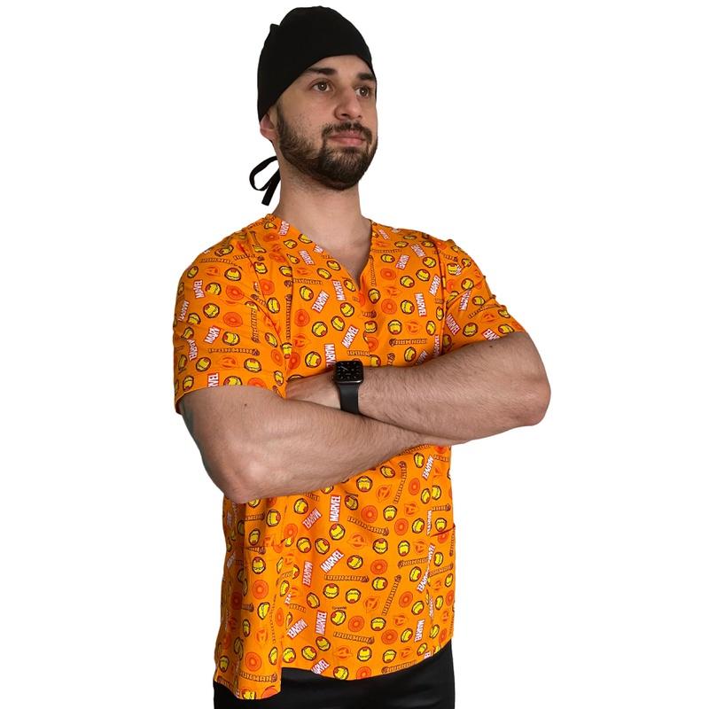 Scrub Masculino - Homem de Ferro (blusa avulsa)