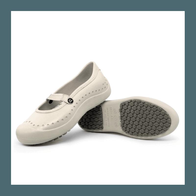 Sapatilha Bege Soft Works BB51 Sapato de Segurança EPI Antiderrapante