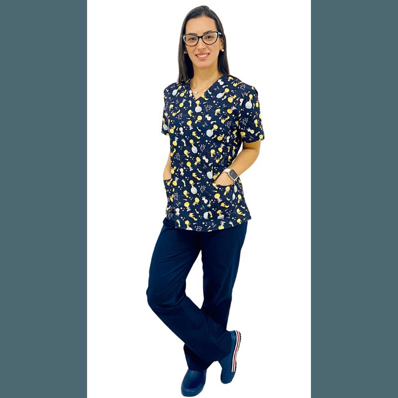 Pijama Cirúrgico Feminino - Pequeno Príncipe 1