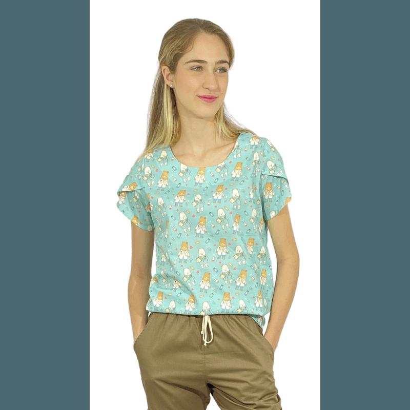Scrub Cirúrgico Feminino Trendy 100% algodão - Medical Nursing D2