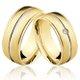 Alianças de Ouro 18k/750 com Diamante AL46