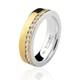 Aliança Feminina Casamento/Noivado Mista em Ouro 18k/750 e Prata 950 AL157