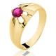 Anel de Ouro 18/750 Masculino com Pedra AN04