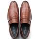 Sapato Masculino Loafer em Couro Havana