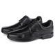 Sapato Conforto Light em Couro Mestiço Preto Savelli