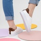 Slip on Velcro Branco com Animal Print
