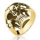 Anel de Ouro 18/750 Masculino Caveira AN11