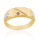Anel de Formatura em Ouro 18k/750 com Zirconia ANFO91