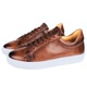 Tênis Florence Casual em Couro Floater Bronze Savelli