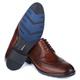 Sapato Masculino Derby Mônaco Em Couro Látego Pinhão Savelli